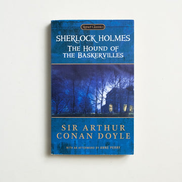 The Hound of the Baskervilles by Sir Aurthur Conan Doyle, Signet Classic, Paperback from A GOOD USED BOOK. A manuscript leaf from this classic Sherlock  Holmes novel was recovered from an estate in 2012 and sold at auction for $158,500. 2001 38th Printing Genre Fiction Mystery