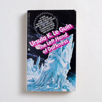 The Left Hand of Darkness by Ursula K. Le Guin, Ace Books, Paperback from A GOOD USED BOOK. A landmark in Science Fiction, this is likely the first book in the genre to present life outside of the gender binary. 1985 13th Printing Genre