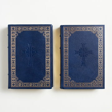 Summa Theologica (I and II) by Thomas Aquinas, Franklin Library, Leatherbound Hardcover Set from A GOOD USED BOOK. One of the first and few church scholars to  embrace philosophy,