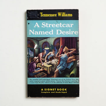 A Streetcar Named Desire by Tennessee Williams, Signet Books, Paperback from A GOOD USED BOOK.  1947 20th Printing Literature Movie Tie In