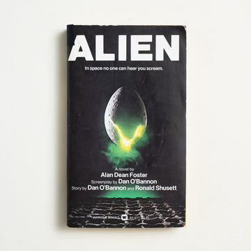 Alien by Alan Dean Foster, Warner Books,  from A GOOD USED BOOK.  1979 1st Printing Genre