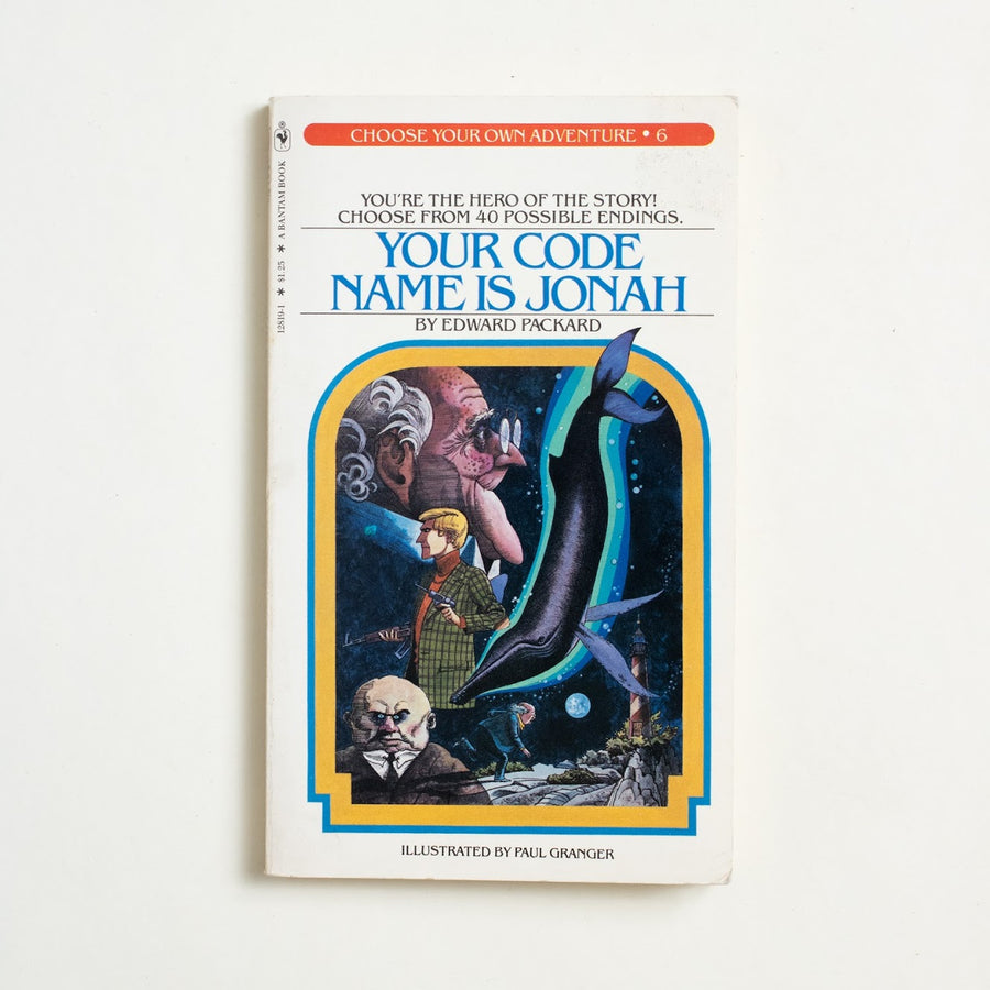 Your Code Name is Jonah by Edward Packard, Bantam Books, Paperback from A GOOD USED BOOK.  1980 1st Printing Genre Games