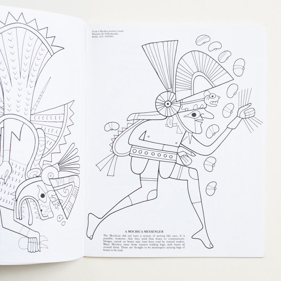 A Coloring Book of Incas, Aztecs & Mayas and Other Precolumbian Peoples by Bellerophon Books