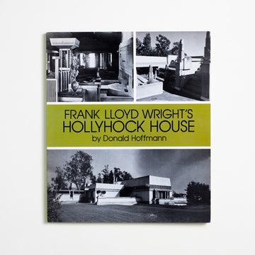 Frank Lloyd Wright's Hollyhock House by Donald Hoffmann, Dover Publications, Oversize Trade Softcover from A GOOD USED BOOK. Built for the oil heiress Aline Barnsdall Hollyhock,  this legendary East Los Angelese home was the  first example of modern American architecture  to be added to the UNESCO World Heritage List.  1992 No Stated Printing Art Architecture, California