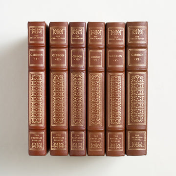 The Decline and Fall of the Roman Empire (6-Volume) by Edward Gibbon, Franklin Library, Leatherbound Hardcover Set from A GOOD USED BOOK.  1982 25th Anniversary Edition Non-Fiction
