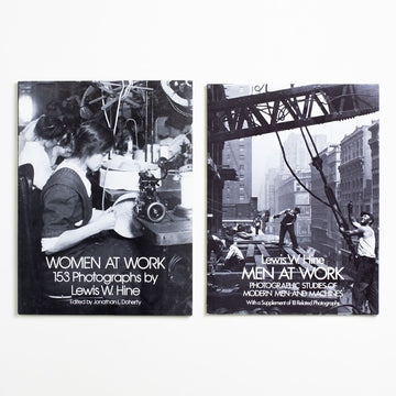 Women at Work & Men at Work Set by Lewis W. Hine, Dover Publications, Oversize Trade Softcover Set from A GOOD USED BOOK.  1977, 1981 No Stated Printing Art History