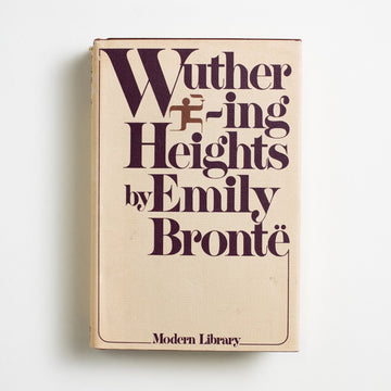Wuthering Heights (Modern Library) by Emily Bronte, Modern Library, Small Hardcover w. Dust Jacket from A GOOD USED BOOK. Emily Bronte's only published novel, it was first published under her pen name, Ellis Bell. Dark and immoral, many critics considered it to be the work of a