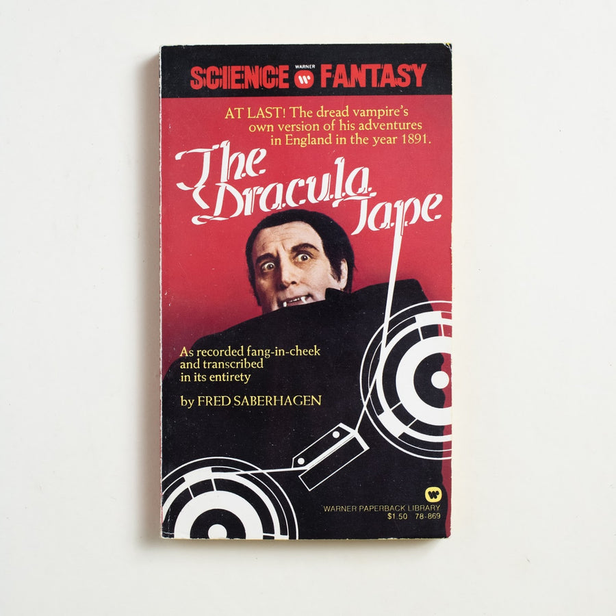 The Dracula Tape by Fred Saberhagen, Warner Books, Paperback from A GOOD USED BOOK.  1975 1st Printing Genre Fiction