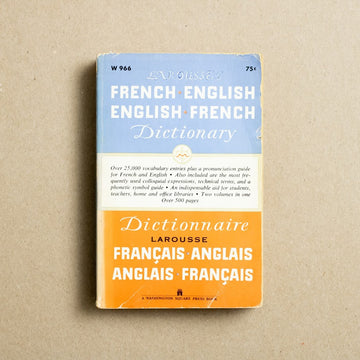French-English English-French Dictionary by Larousse, Washington Square Press, Paperback from A GOOD USED BOOK.