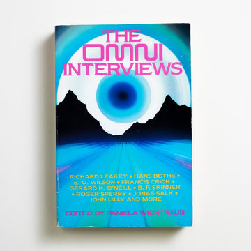 The Omni Interviews edited by Pamela Weintraub, Omni Press Book, Large Trade Softcover from A GOOD USED BOOK. Richard Leakey / Hans Bethe / E.O. Wilson Francis Crick / Gerard K. O'Neill / B.F. Skinner Roger Sperry / Jonas Salk / John Lilly and more 1984 1st Printing Non-Fiction Anthology