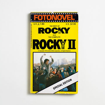 The Best of Rocky and the Complete Rocky II by Sylvester Stallone, Fotonovel Publications, Paperback from A GOOD USED BOOK. Imagine you are Sylvester Stallone. You have $106 in the  bank and are being offered $360,000 for the script you  wrote in three days... on the condition that you relinquish the lead role. Imagine you don't. Imagine the blockbuster. 1979 1st Printing Genre
