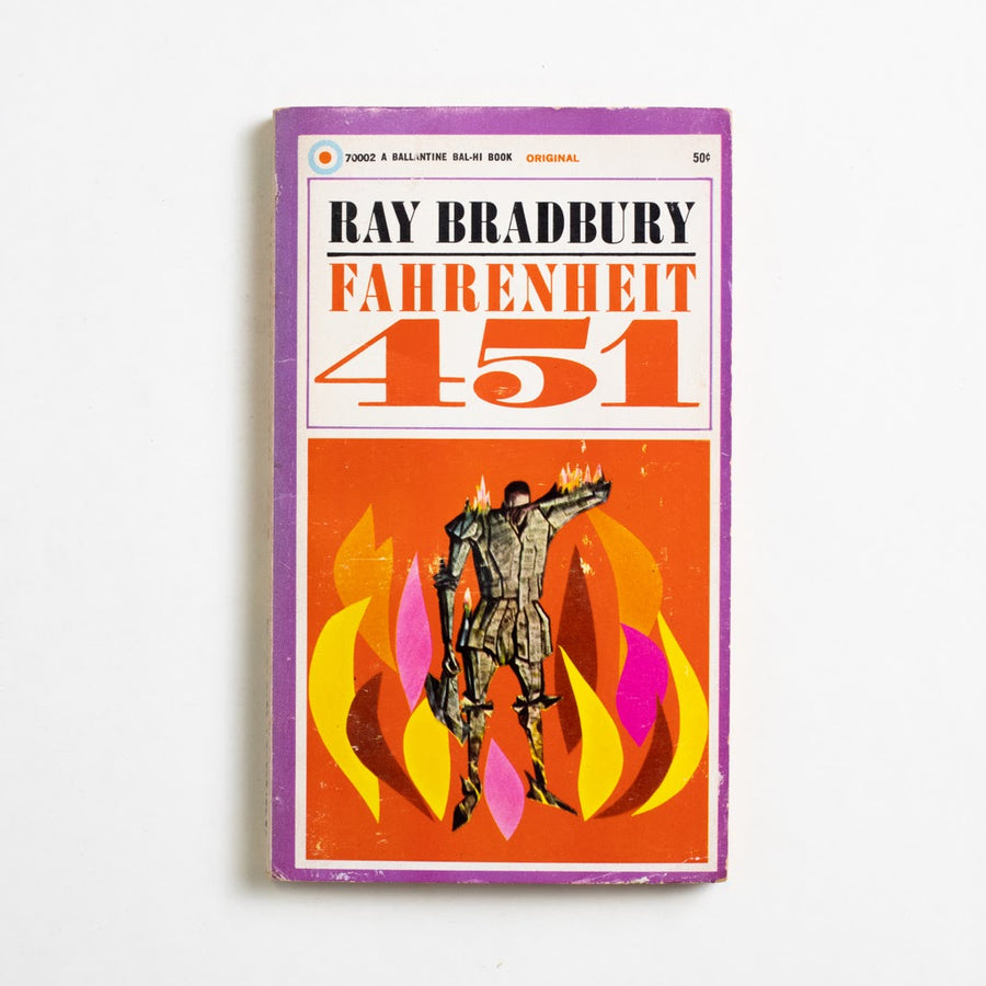 Fahrenheit 451 (Ballantine) by Ray Bradbury, Ballantine Books, Paperback from A GOOD USED BOOK.  1968 5th Printing Literature