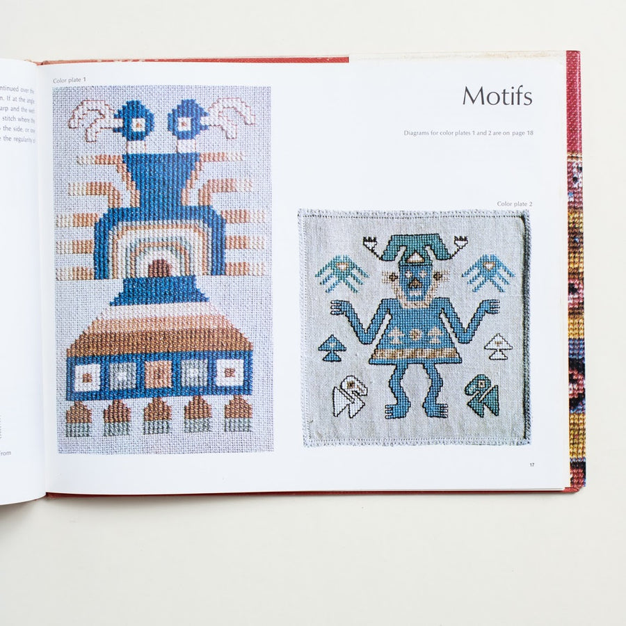 Ancient Peruvian Textile Design in Modern Stitchery by Ellen Jessen