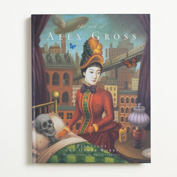 The Art of Alex Gross by Alex Gross, Chronicle Books, Large Hardcover w/o Dust Jacket from A GOOD USED BOOK. A Los Angeles visual artist, Alex Gross  specializes vivid oil paintings that depict his city, his society, his passage of time. 2007 1st Edition Art