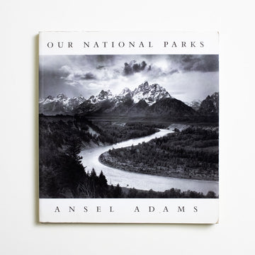 "Our National Parks by Ansel Adams, Little Brown and Company, Large Trade Softcover from A GOOD USED BOOK. ""Yosemite Valley, to me, is always a sunrise,  a glitter of green and golden wonder in a vast edifice of stone and space."" - Ansel Adams 2000 6th Printing Art Nature"