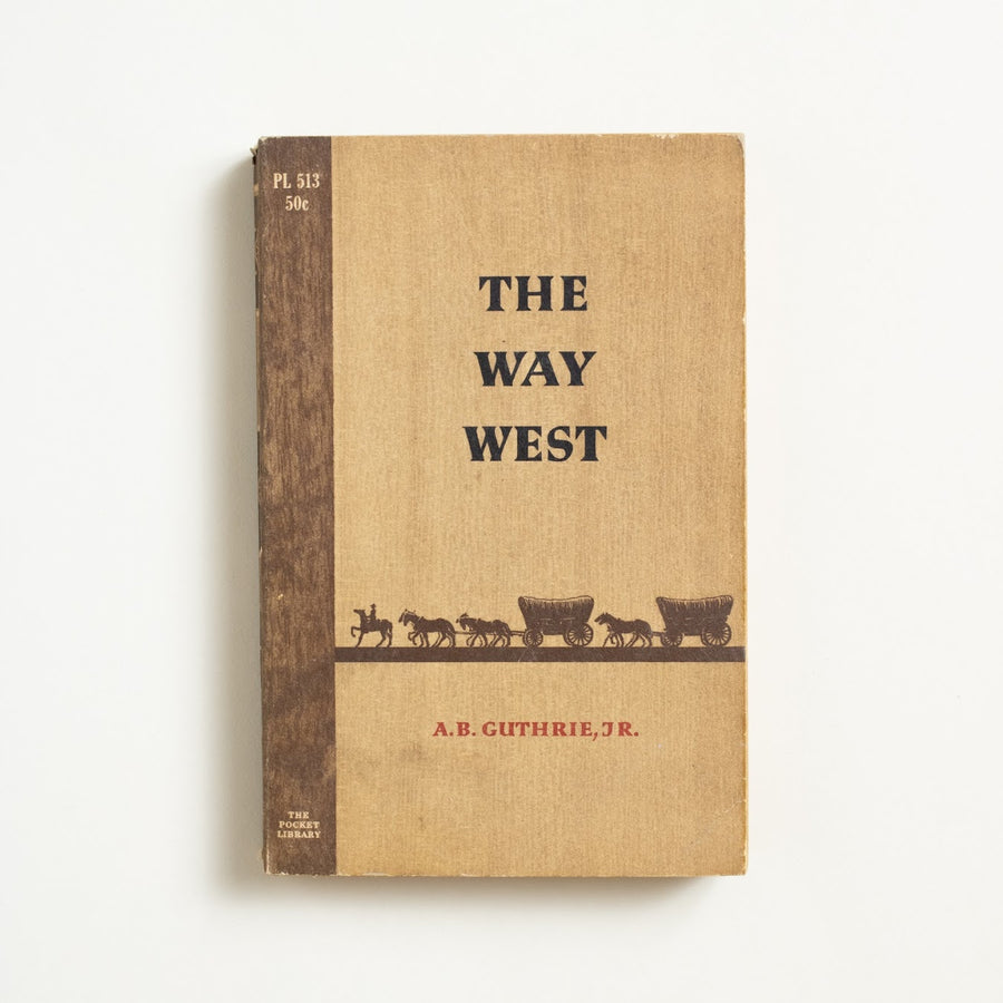 The Way West by A.B. Guthrie, Jr., Pocket Library, Paperback from A GOOD USED BOOK. A Pulitzer Prize winning western, this is one  for fans of Doc Holiday and Louis L'Amour.  1956 2nd Printing Genre