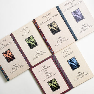 Sherlock Holmes: 6-Book Set by Aurthur Conan Doyle, Quality Paperback Book Club, Trade Softcover set from A GOOD USED BOOK. Detective Sherlock Holmes made his first famous  appearance in Doyle's