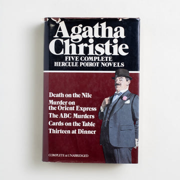 Five Complete Hercule Poirot Novels by Agatha Christie, Avenel Books, Hardcover w. Dust Jacket from A GOOD USED BOOK. Death on the Nile / Murder on the Orient Express / The ABC Murders / Cards on the Table / Thirteen at Dinner 1980 No Stated Printing Genre