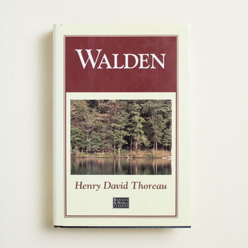 Walden (Barnes and Noble) by Henry David Thoreau, Barnes and Noble Books, Hardcover w. Dust Jacket from A GOOD USED BOOK.  1993 4th Printing Literature