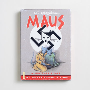 Maus I & II by Art Spiegelman, Pantheon Books, Large Trade Softcover Set w. Slipcase from A GOOD USED BOOK.  1986 No Stated Printing Genre Comics