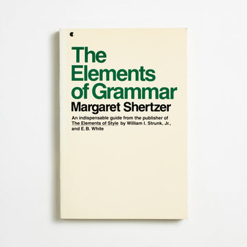 The Elements of Grammar by Margaret Shertzer, Collier Books, Trade Softcover from A GOOD USED BOOK. We all know about