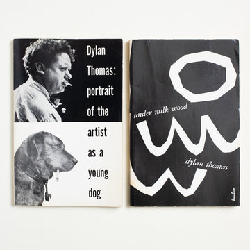 Portrait of the Artist As a Young Dog & Under Milk Wood 2-Book Set by Dylan Thomas, New Directions, Trade Softcover Set from A GOOD USED BOOK. One of these was commissioned by the BBC  as a radio drama, the other was penned as a  collection of comic and autobiographical tales,  but both ring out with the same Welsh poetry that made Dylan Thomas a name for the ages. 1980 No Stated Printing Literature Short Stories