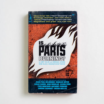 Is Paris Burning? by Larry Collins, Pocket Books, Paperback from A GOOD USED BOOK. A chilling book turned famous film, this is the story of Paris versus Hitler, of history and hope. 1966 6th Printing Genre History