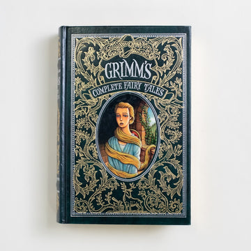 Grimm's Complete Fairy Tales by Jacob and Wilhelm Grimm, Barnes and Noble Books, Leatherbound Hardcover  from A GOOD USED BOOK.  2008 21st Printing Classics Childrens, Fairy Tales, Mythology
