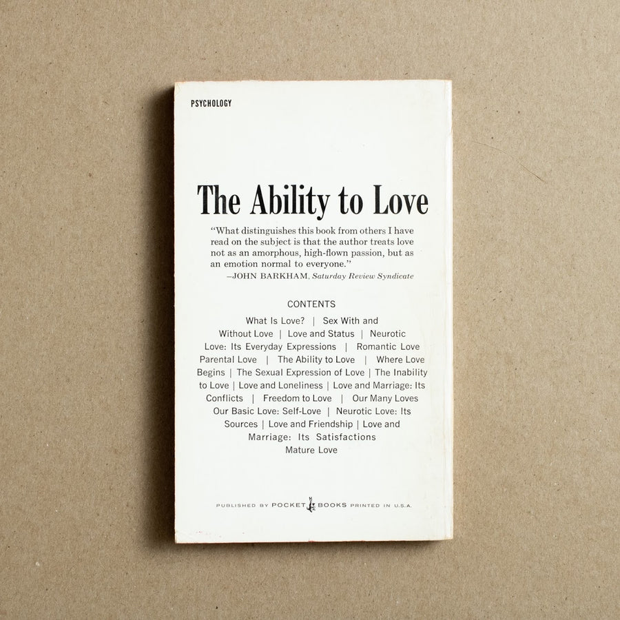The Ability to Love by Allan Fromme