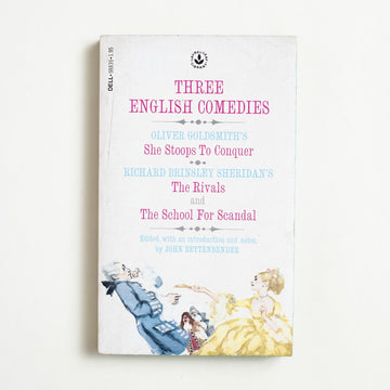 Three English Comedies edited by John Bettenbender, Laurel Leaf Books,  from A GOOD USED BOOK.  1979 9th Printing Classics Anthology