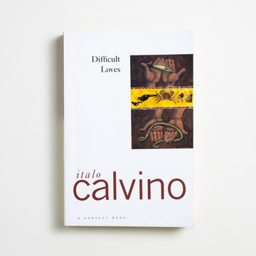 Difficult Loves by Italo Calvino, Harcourt, Trade Softcover from A GOOD USED BOOK. Italo Calvino was the most-translated contemporary  Italian writer at the time of his death in 1985, and  for good reason. Sharp and comic, dark and true.  1984 No Stated Printing Literature