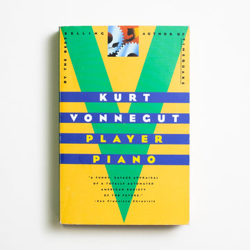 Player Piano (Trade) by Kurt Vonnegut, Dell Publishing, Trade Softcover from A GOOD USED BOOK. Kurt Vonnegut's debut novel paints a dystopian  portrait of the America that technology built.  Inspired by his real-life job at General Electric, it is an honest book: true and human and fun. 1999 9th Printing Literature