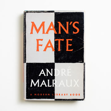 Man's Fate by Andre Malraux, Modern Library, Small Hardcover w. Dust Jacket from A GOOD USED BOOK.  1961 No Stated Printing Literature
