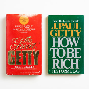 J. Paul Getty Paperback Set by Various , Jove/Signet, Paperback Set from A GOOD USED BOOK. You might know J. Paul Getty from the Getty Oil Company, or the J. Paul Getty Museum in Los Angeles, or the Getty Villa on the cliffs of Malibu, or his billions and billions and billions of dollars. 1987/2000 1st Printing/49th Printing Non-Fiction Money, Self Help