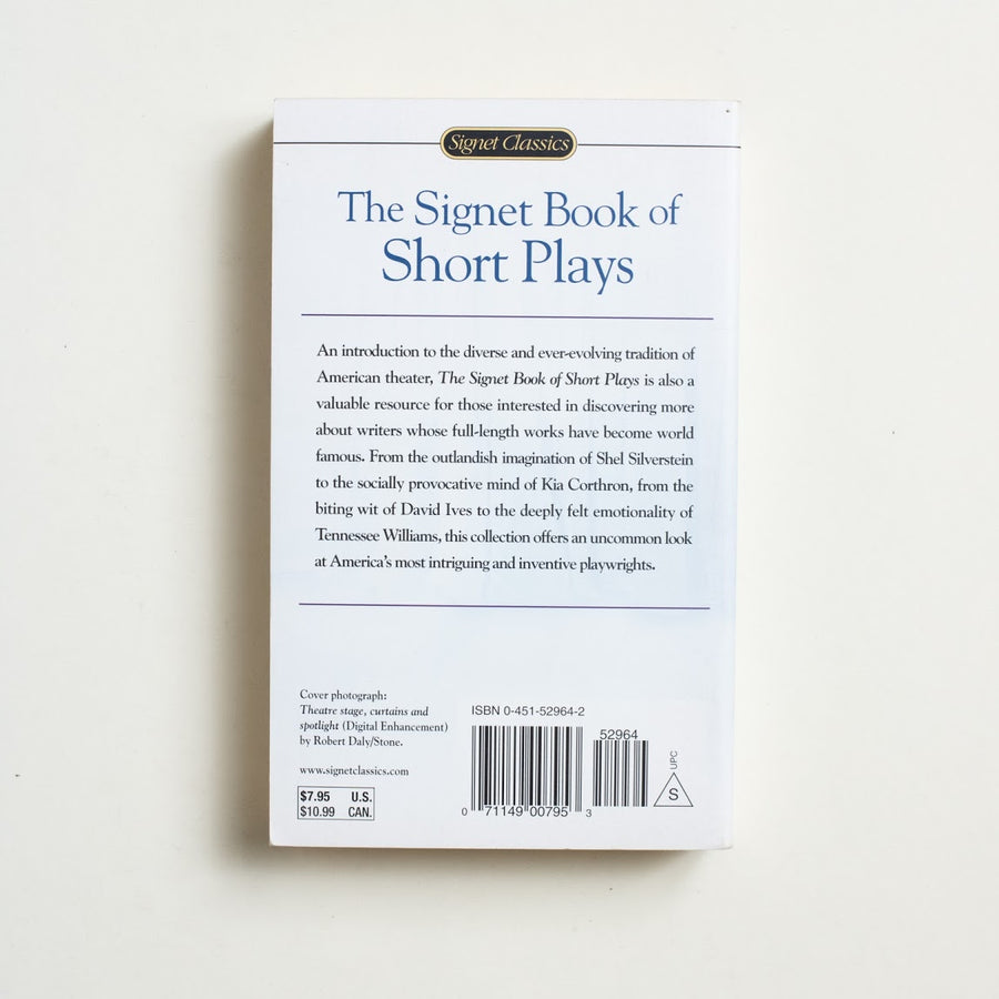 The Signet Book of Short Plays edited by Jerry Weiss