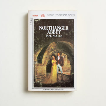 Northanger Abbey (Large Type) by Jane Austen, Magnum Books, Paperback from A GOOD USED BOOK. The first of Jane Austen's novels to be written, it was not published until after her death. A gothic satire, a passionate defense of literature, a gem. 1968 No Stated Printing Literature