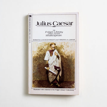 Julius Caesar (Folger Library) by William Shakespeare, Washington Square Press, Paperback from A GOOD USED BOOK. Despite its title, this one of Shakespeare's plays focuses more on Brutus: his psychological battle between honor and loyalty, crime and conspiracy. 1980 40th Printing Classics