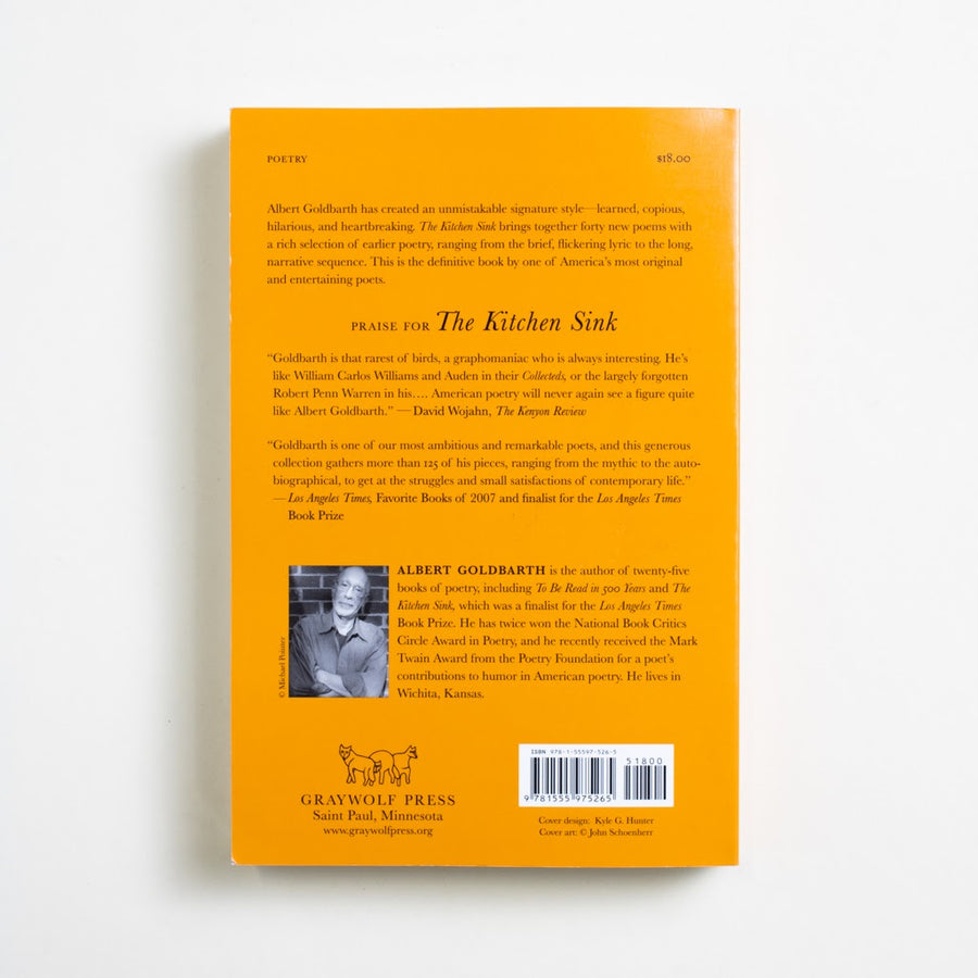 The Kitchen Sink: New and Selcted Poems 1972-2007 by Albert Goldbarth