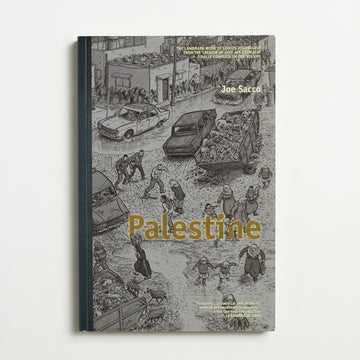 Palestine by Joe Sacco, Fantagraphics Books, Large Trade Softcover from A GOOD USED BOOK. This recognized non-fiction graphic novel records the American author's experience in Palestine in  the early 1990's - an honest and important work. 2002 14th Printing Genre Fiction Memoirs