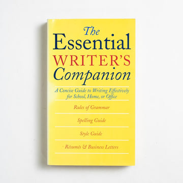 The Essential Writer's Companion by Sandra Whiteley, Houghton Mifflin, Paperback from A GOOD USED BOOK. A Concise Guide to Writing Effectively for School, Home or Office 1994 No Stated Printing Reference