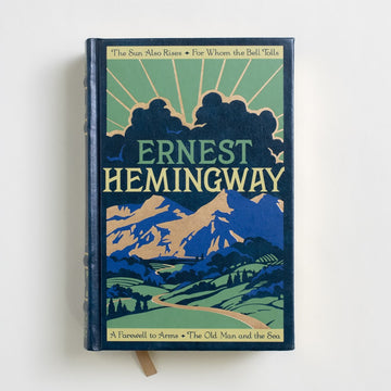 Four Novels by Ernest Hemingway, Barnes and Noble Books, Large Hardcover from A GOOD USED BOOK. The Sun Also Rises / For Whom the Bell Tolls A Farewell to Arms / The Old Man and the Sea 2007 6th Printing Literature