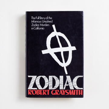 Zodiac (Hardcover) by Robert Graysmith, St. Martin's Press, Hardcover w. Dust Jacket from A GOOD USED BOOK. Robert Graysmith was working as a cartoonist for the San Francisco Chronicle when the Zodiac killer began sending letters to the publication in the early 1960's. Watching the case grow cold, Graysmith decided to write all he knew. 1986 1st Edition Non-Fiction California, Society
