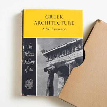 Greek Architecture by A.W. Lawrence, Penguin Books, Hardcover w. Slipcase from A GOOD USED BOOK.  1962 No Stated Printing Art History
