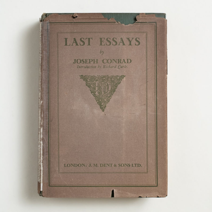 Last Essays by Joseph Conrad, J.M. Dent & Sons, Hardcover w. Dust Jacket from A GOOD USED BOOK.  1926 1st Edition Literature