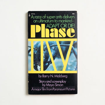 Phase IV by Barry N. Malzberg, Pocket Books,  from A GOOD USED BOOK.  1974 4th Printing Genre Science Fiction