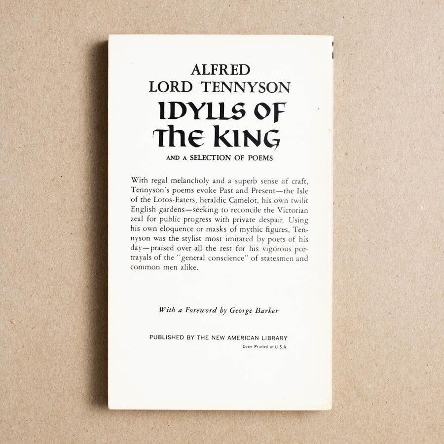 Idylls of the King and Selecton of Poems by Alfred Lord Tennyson