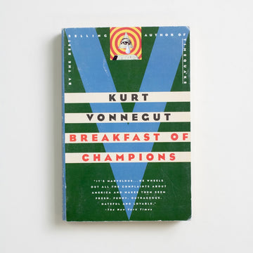 Breakfast of Champions (Trade) by Kurt Vonnegut, Dell Publishing, Trade Softcover from A GOOD USED BOOK.  1999 2nd Printing Literature Banned