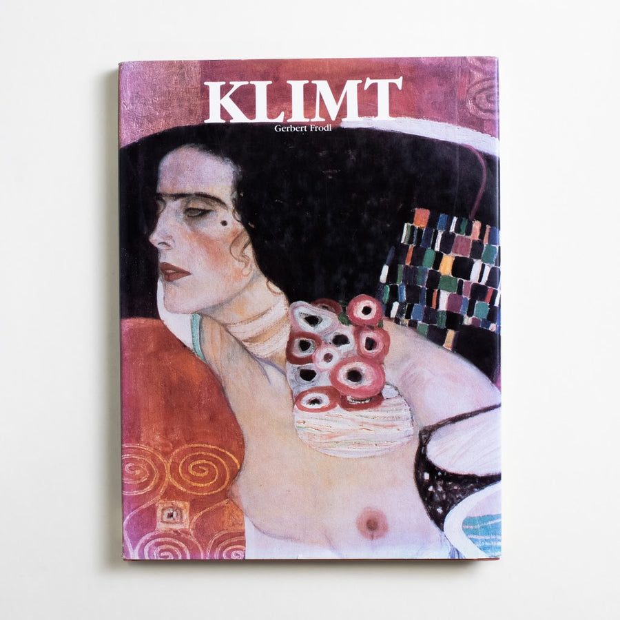 Klimt by Gerbert Frodl, Konecky & Konecky, Oversize Hardcover w. Dust Jacket from A GOOD USED BOOK. Klimt's work could be subtle and tender, vibrant and carnal. He loved women and goldleaf;  he died of influenza during the 1918 pandemic. 1992 No Stated Printing Art