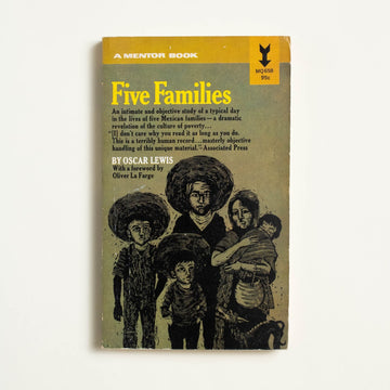 Five Families by Oscar Lewis, Mentor Books, Paperback from A GOOD USED BOOK.