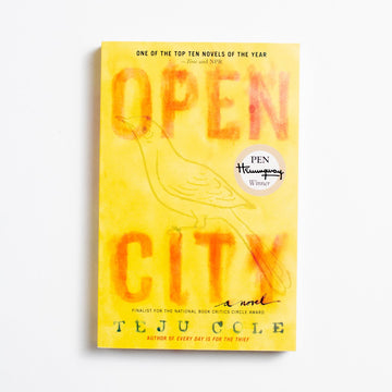 Open City by Teju Cole, Random House Books, Trade Softcover from A GOOD USED BOOK.  2012 18th Printing Literature Black Literature